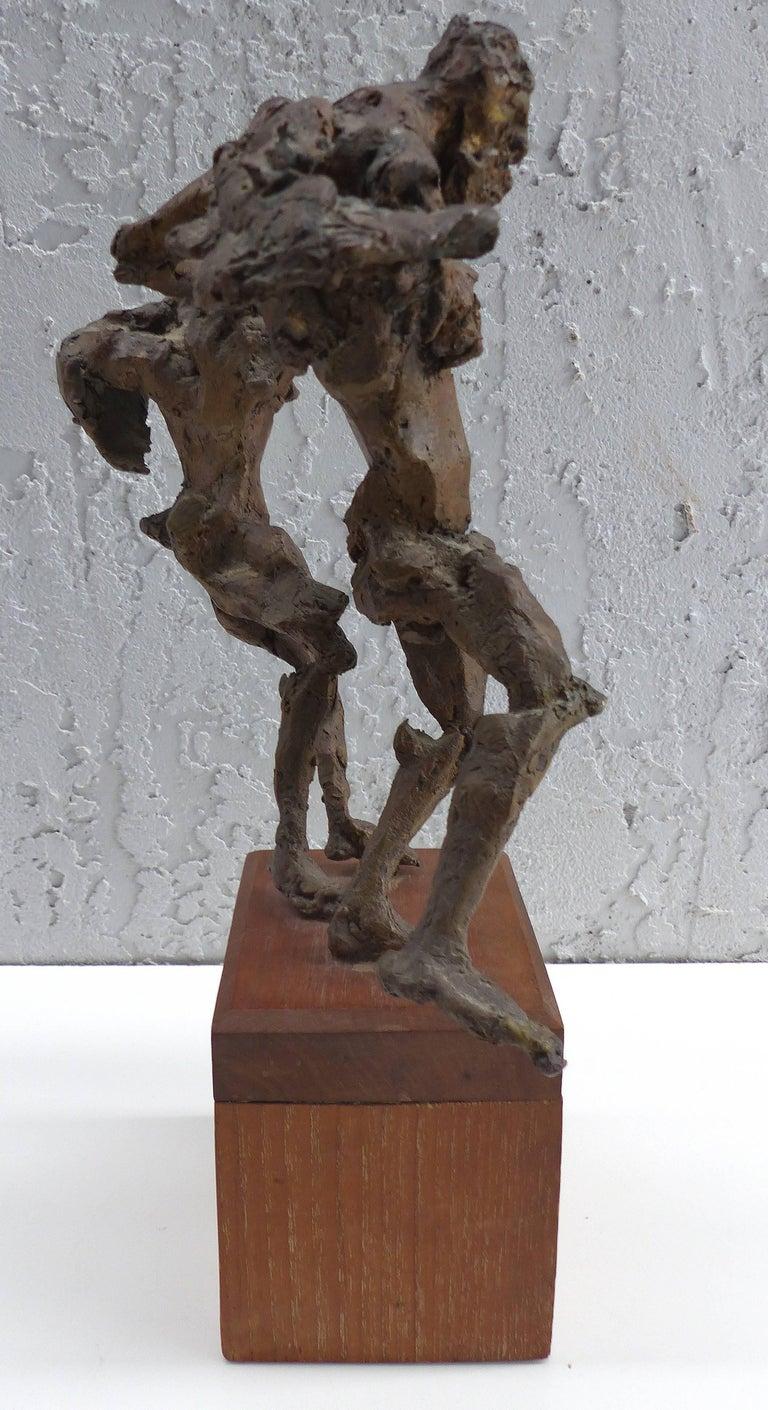 Brutalist Linda Goodman Bronze Figurative Sculpture For Sale