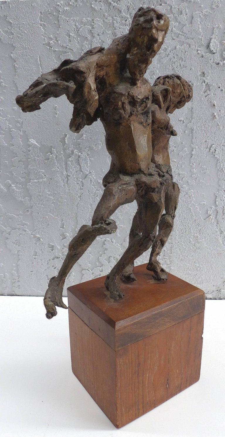 Linda Goodman Bronze Figurative Sculpture In Good Condition For Sale In Miami, FL
