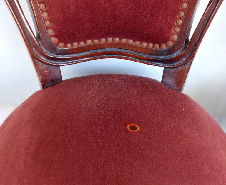 Louis XV Style Mahogany Dining Chairs with Carved Pierced Backs, Set of 10 For Sale 9