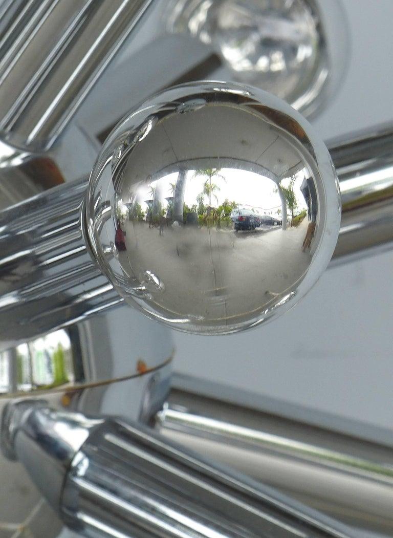 Mid-Century Modern Chrome Sputnik Chandelier For Sale 6