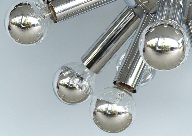 Mid-Century Modern Chrome Sputnik Chandelier For Sale 4