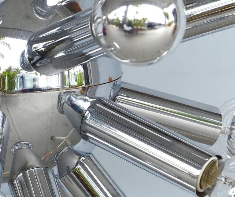 Mid-Century Modern Chrome Sputnik Chandelier For Sale 5