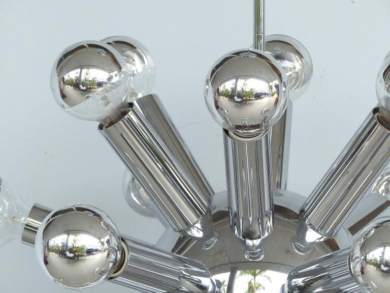 Mid-Century Modern Chrome Sputnik Chandelier For Sale 3