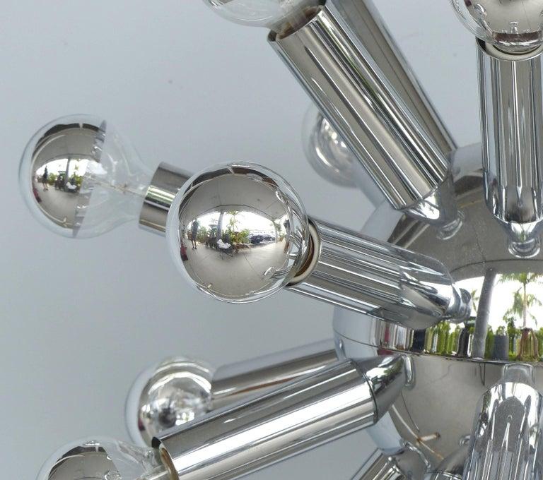 Mid-Century Modern Chrome Sputnik Chandelier For Sale 2