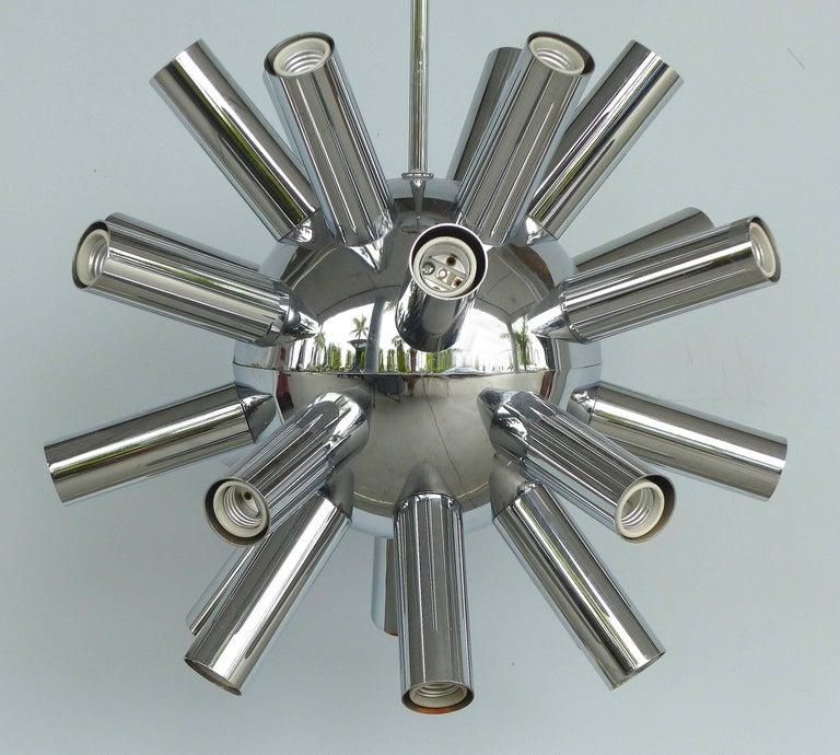 20th Century Mid-Century Modern Chrome Sputnik Chandelier For Sale