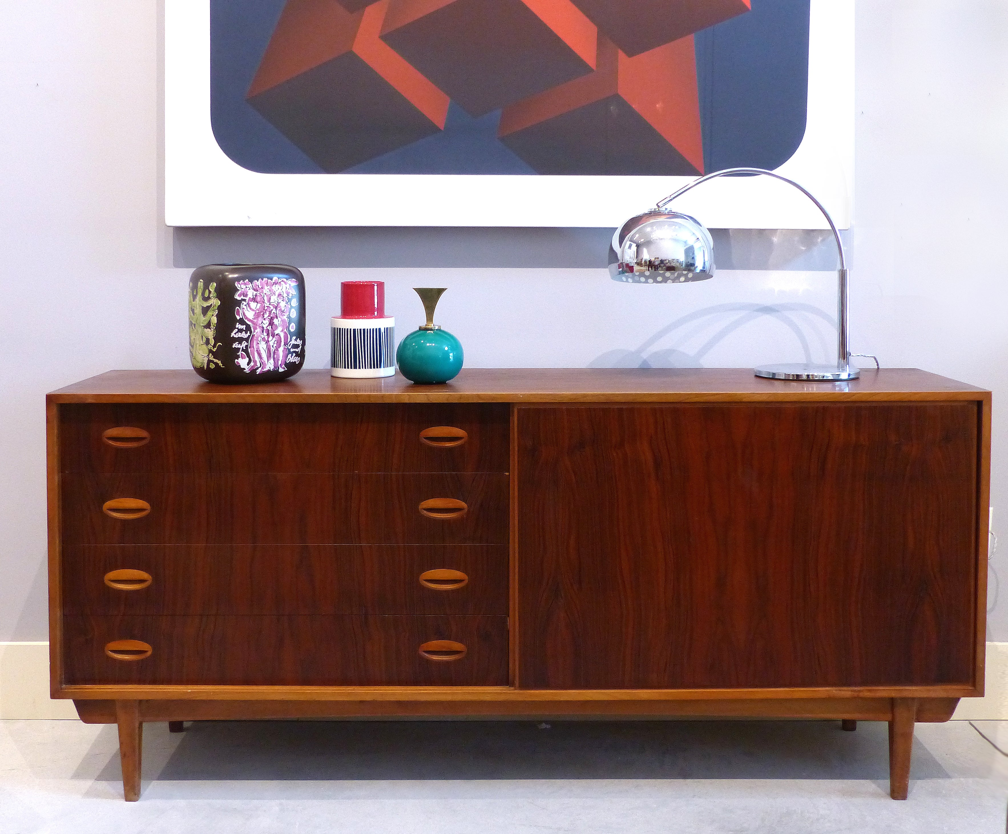 Credenza La Gi : Mid century modern scandinavian teak and rosewood credenza for