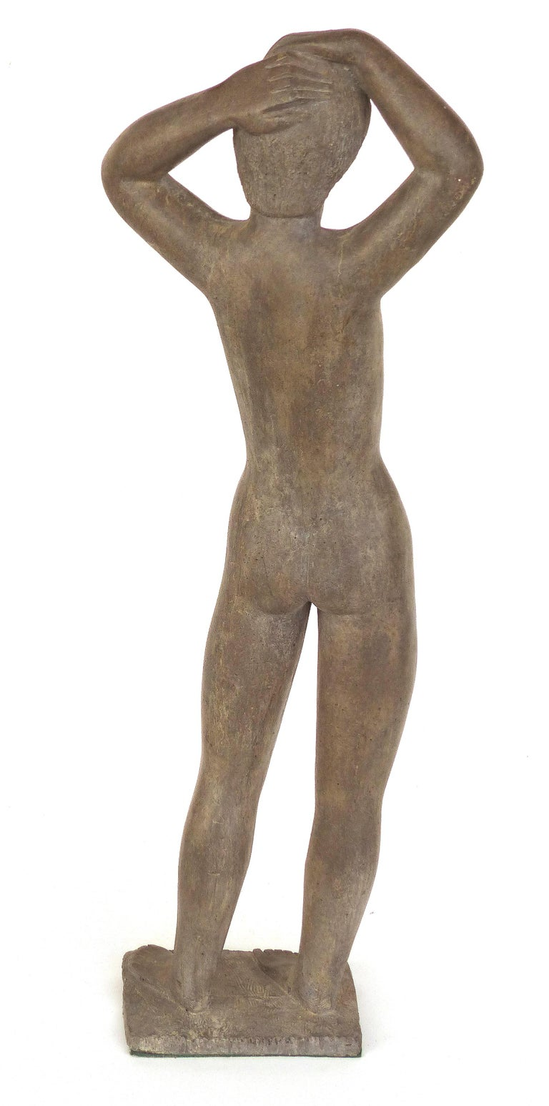 Large Cast Composition Sculpture of Standing Nude, Chuck Dodson, American, 1970s In Good Condition For Sale In Miami, FL
