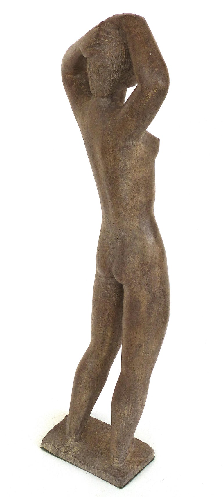 Late 20th Century Large Cast Composition Sculpture of Standing Nude, Chuck Dodson, American, 1970s For Sale