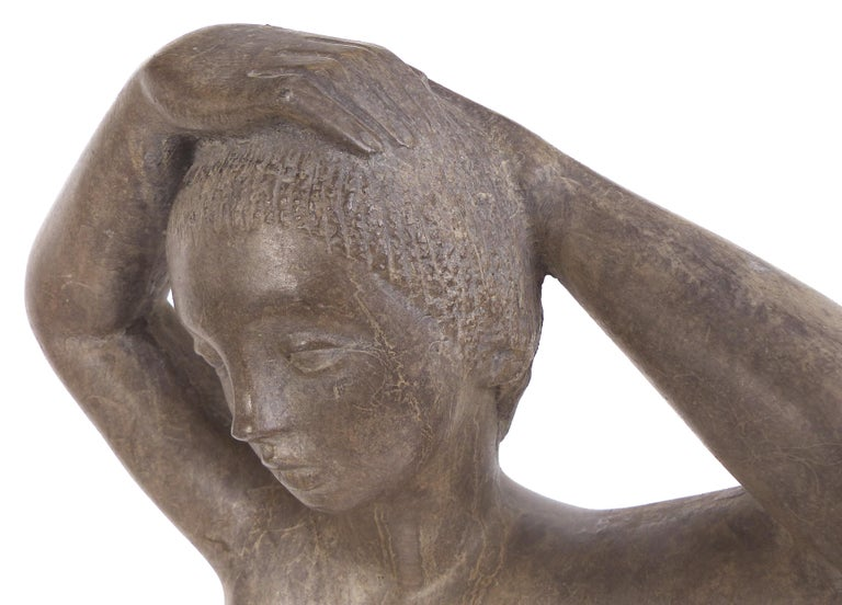 Large Cast Composition Sculpture of Standing Nude, Chuck Dodson, American, 1970s For Sale 3