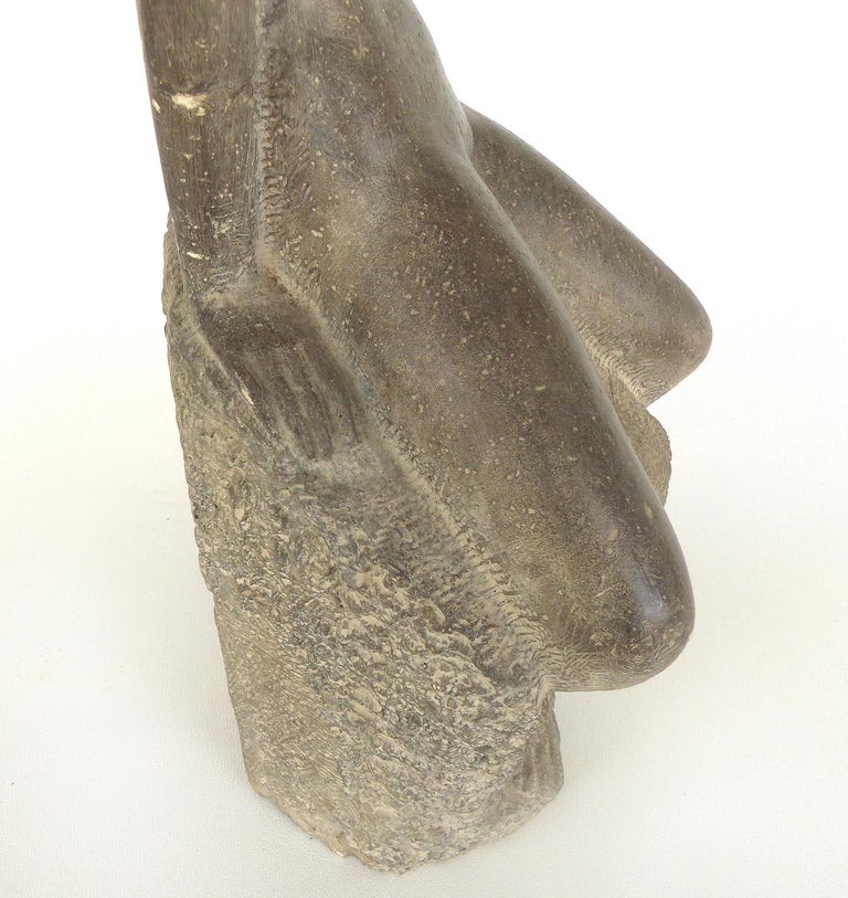 Chuck Dodson Cast Composition Sculpture of a Seated Nude, American, circa 1970s For Sale 3