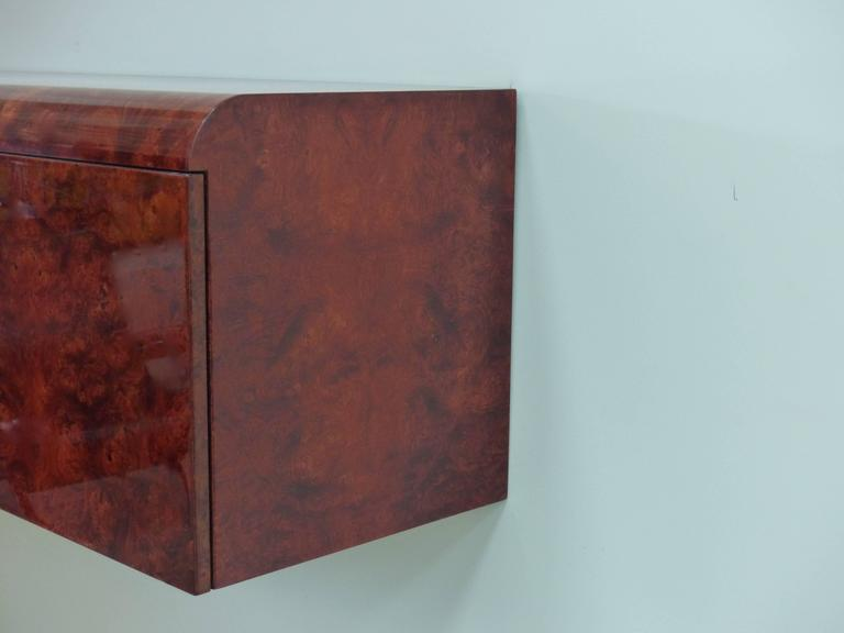 Credenza La Gi : Leon rosen pace hanging burl wood credenza for sale at stdibs