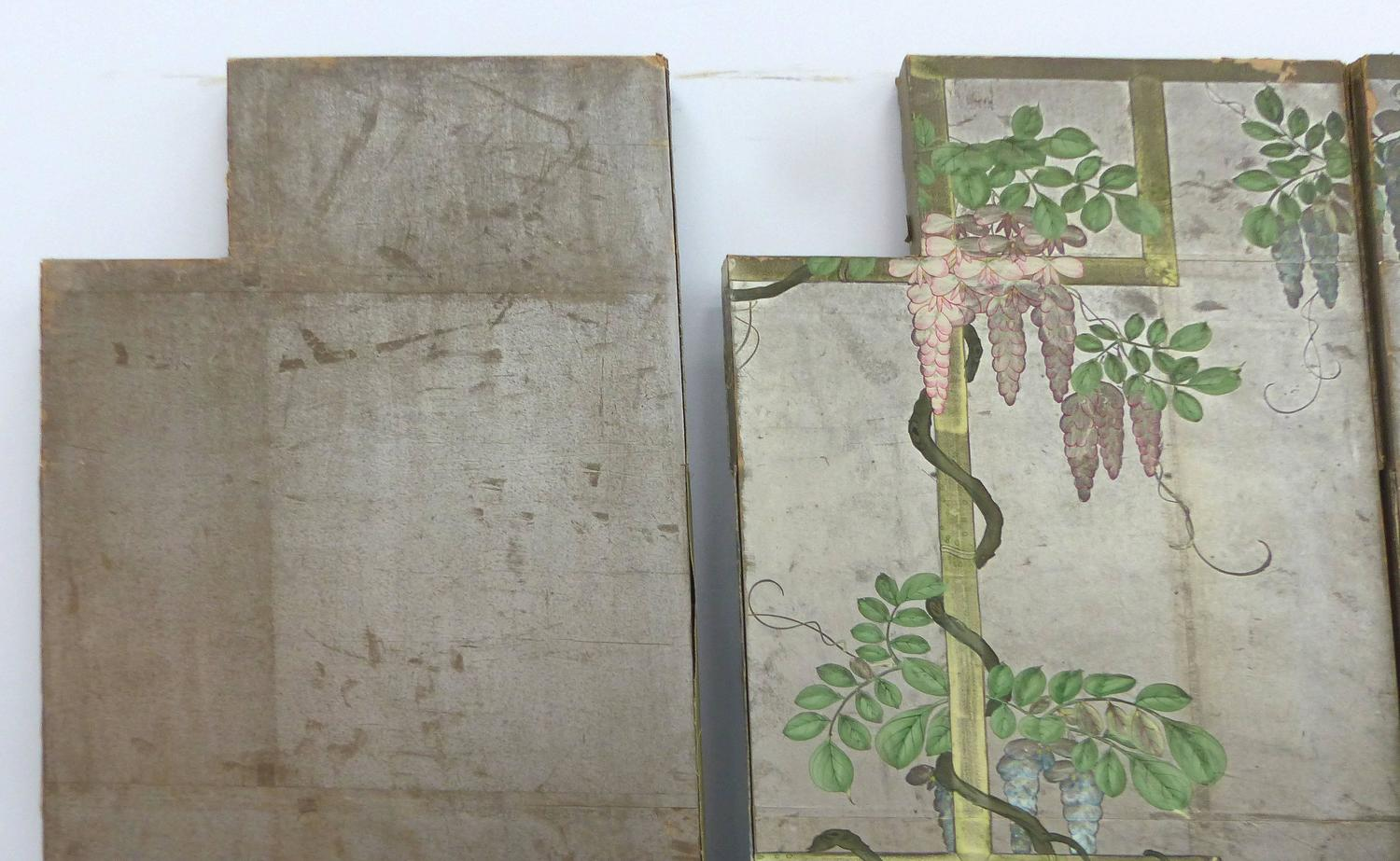 Six 1920s hand painted chinoiserie wallpaper screen panels for Wallpaper sheets for sale
