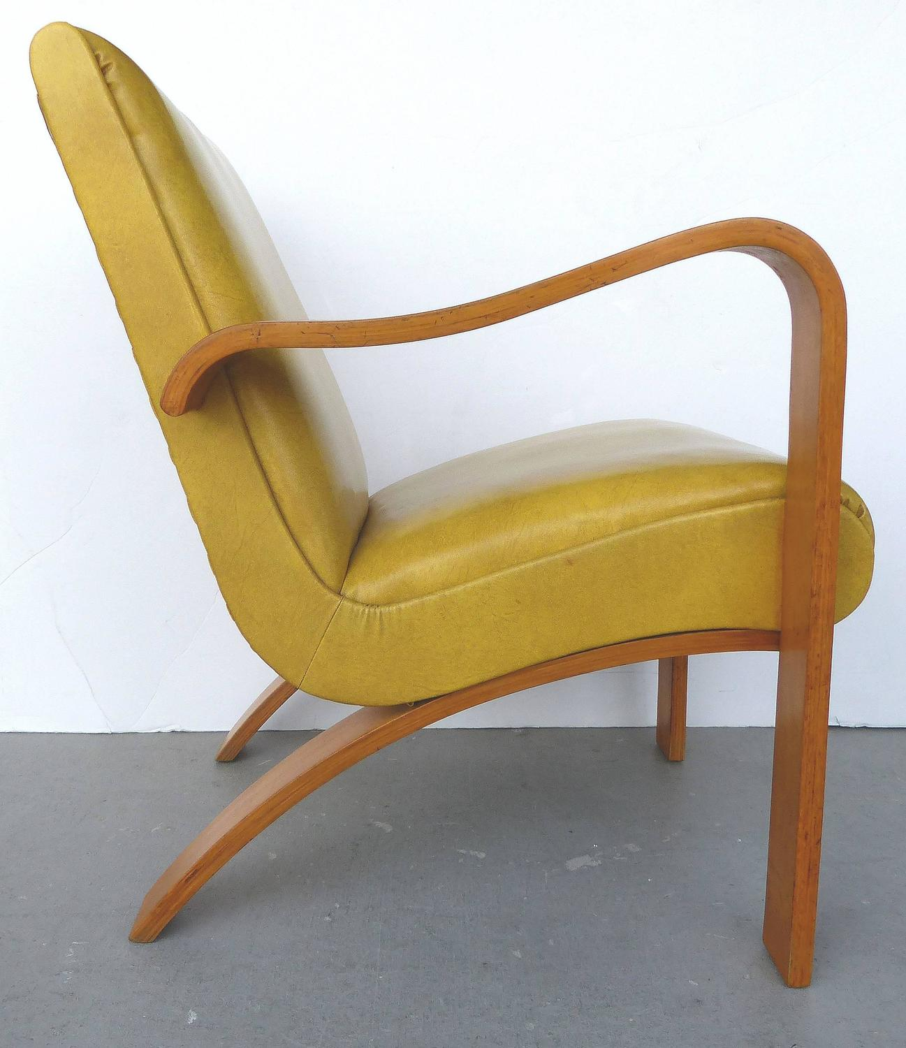 1940s Thonet Bentwood Lounge Chairs With Opposing Arms For Sale At 1stdibs