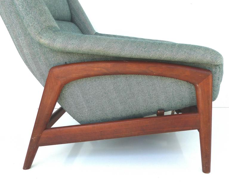 Dux Reclining Lounge Chair And Ottoman At 1stdibs