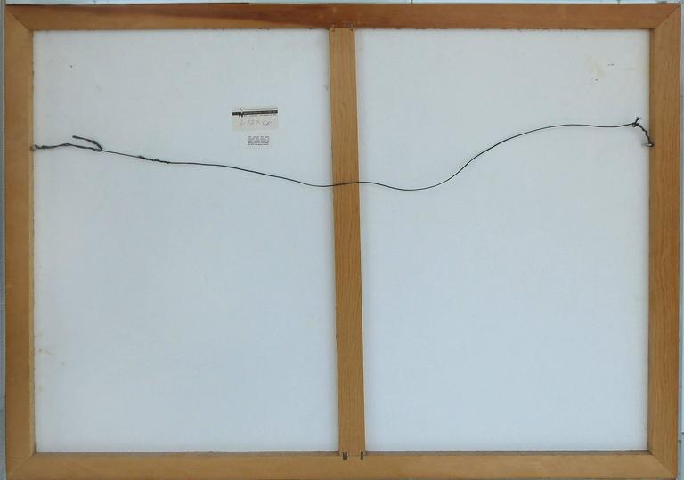 20th Century Handmade Paper Wall Sculpture Encased in Acrylic For Sale 6