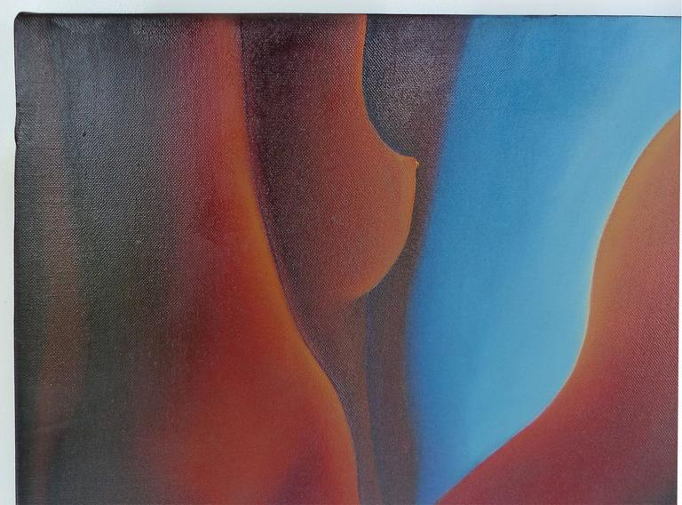 Canvas Contemporary Oil Painting by Cuban American Artist Juan Navarette For Sale