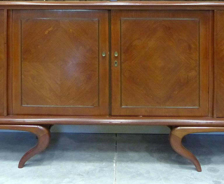 Mid-Century Modern Giuseppe Scapinelli Sculptural Credenza, Monumental and Important, circa 1960 For Sale