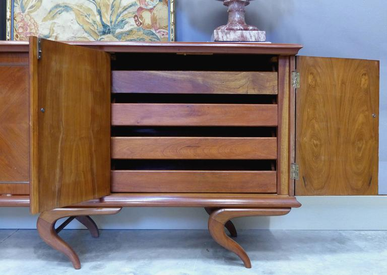 Brazilian Giuseppe Scapinelli Sculptural Credenza, Monumental and Important, circa 1960 For Sale
