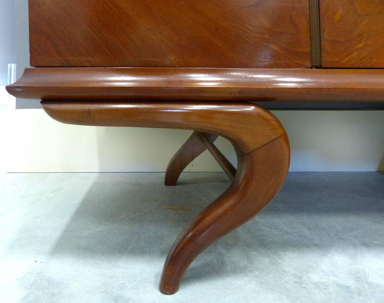 Giuseppe Scapinelli Sculptural Credenza, Monumental and Important, circa 1960 In Good Condition For Sale In Miami, FL