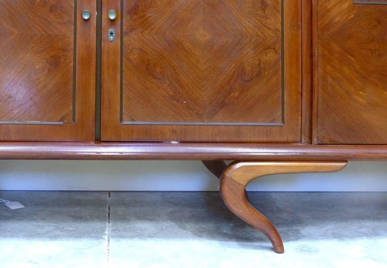 20th Century Giuseppe Scapinelli Sculptural Credenza, Monumental and Important, circa 1960 For Sale