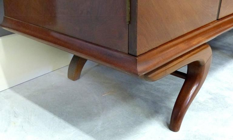 Giuseppe Scapinelli Sculptural Credenza, Monumental and Important, circa 1960 For Sale 1
