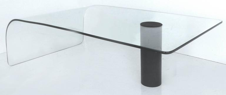 Modern Bent Glass Waterfall Coffee Table 3