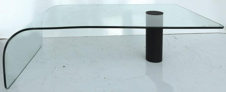 Modern Bent Glass Waterfall Coffee Table 5