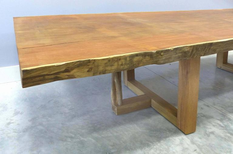Monumental Reclaimed Andira Anthelmia Wood Table By Valéria Totti In Excellent Condition For