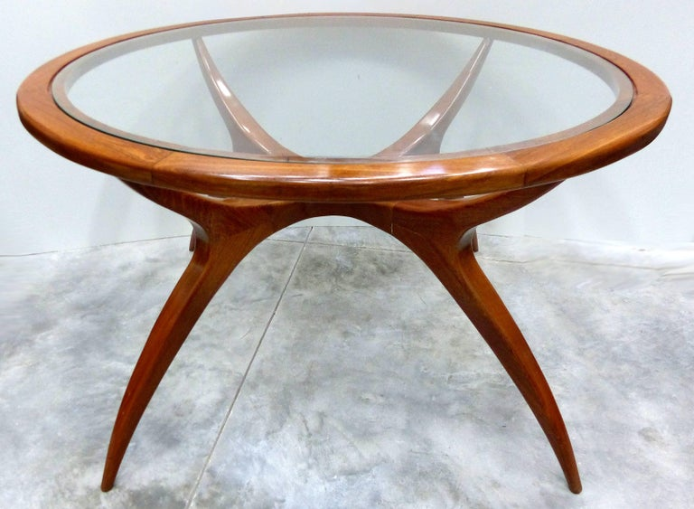Brazilian Sculptural Wood Table by Giuseppe Scapinelli, Brazil, 1960s
