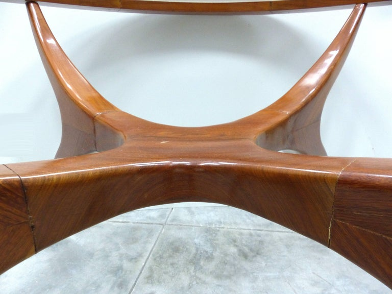 Sculptural Wood Table by Giuseppe Scapinelli, Brazil, 1960s In Good Condition In Miami, FL