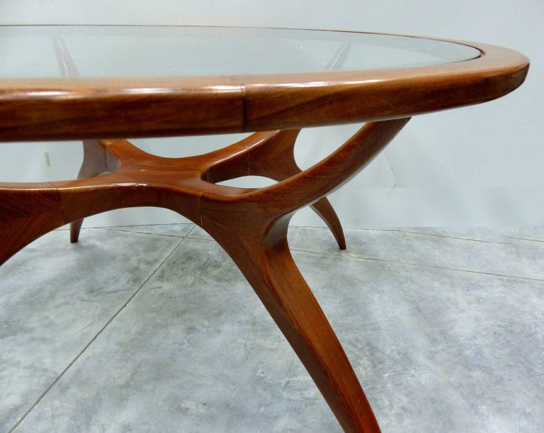20th Century Sculptural Wood Table by Giuseppe Scapinelli, Brazil, 1960s