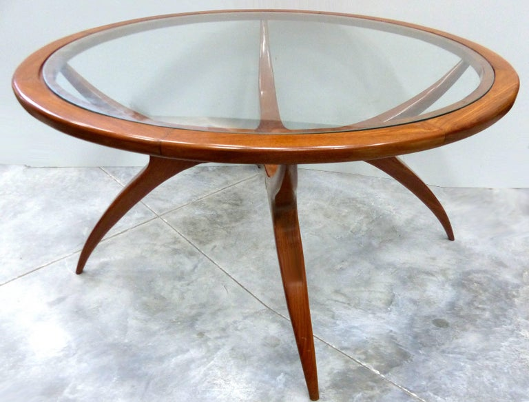 Mid-Century Modern Sculptural Wood Table by Giuseppe Scapinelli, Brazil, 1960s