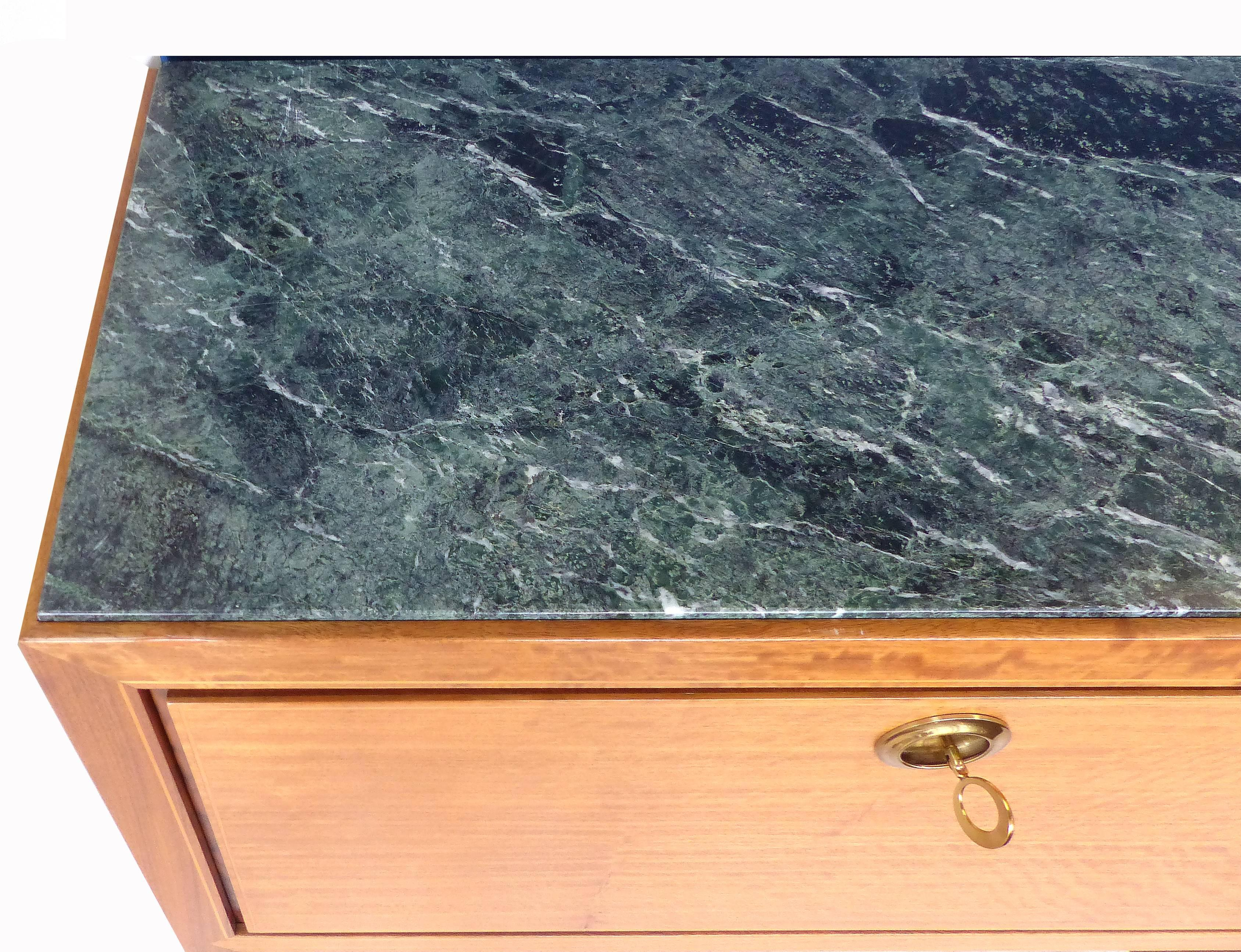Credenza La Gi : Italian paolo buffa credenza with satinwood and inset marble top