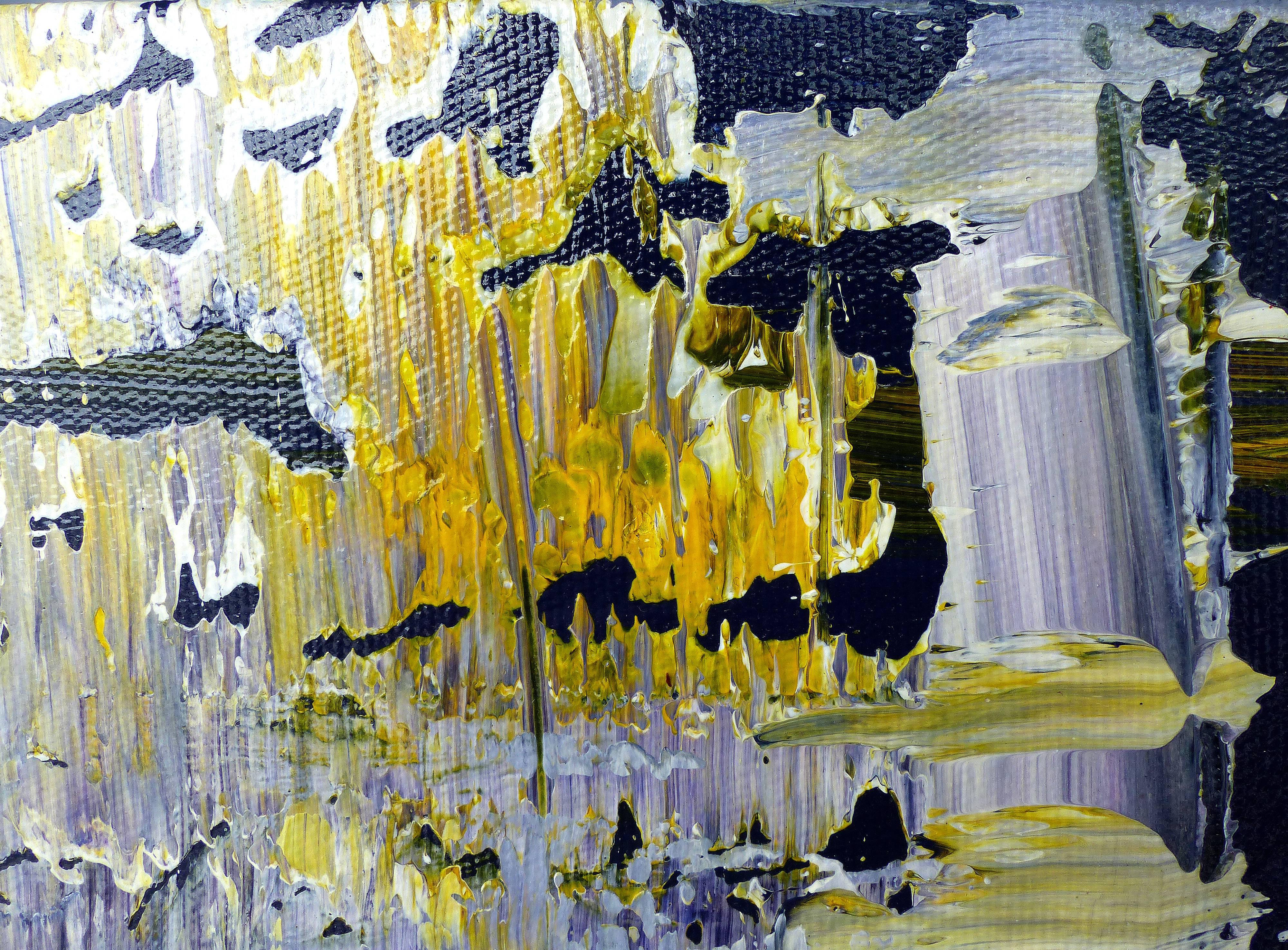 Abstract Painting by the Brazilian Artist Claudio Cardoso For Sale ...
