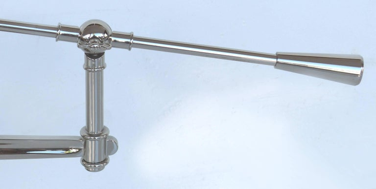 Fine Quality Adjustable Chrome Task Lamp with Pivoting Arm For Sale 4