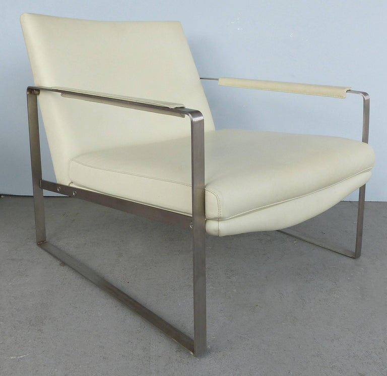 leman leather and fabric club chairs by camerich co uk for sale