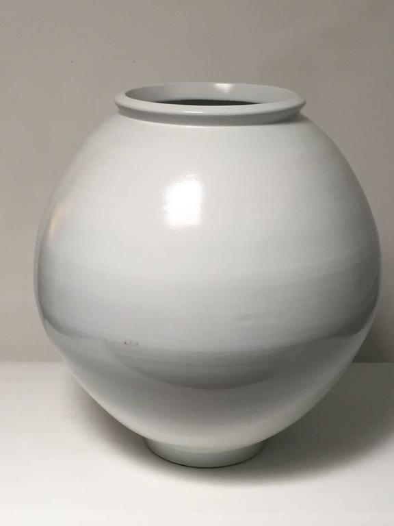 Large Contemporary Porcelain Moon Jar By Kim Yikyung At 1stdibs
