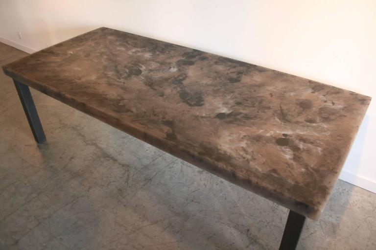 Hand-Carved Sturdy Dining Table For Sale