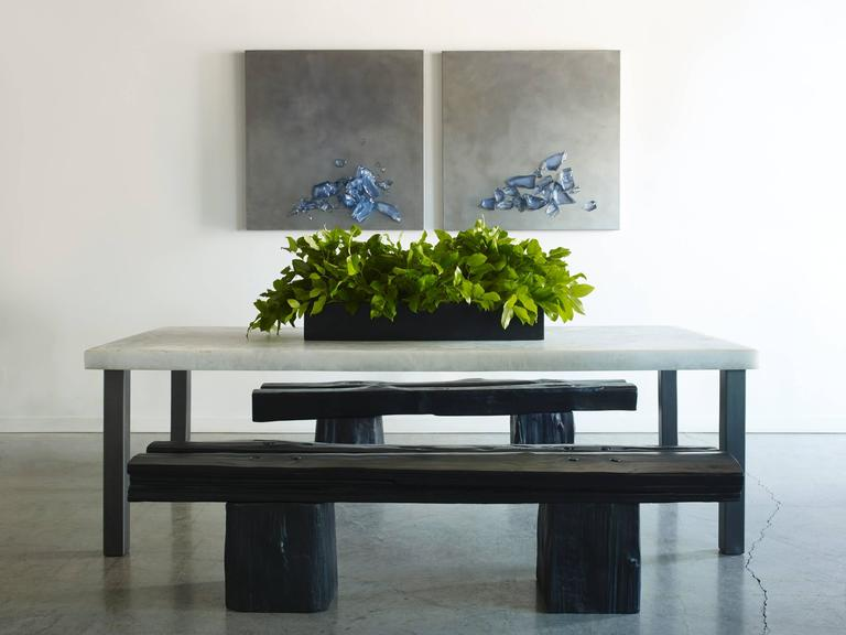 Steel Sturdy Dining Table For Sale