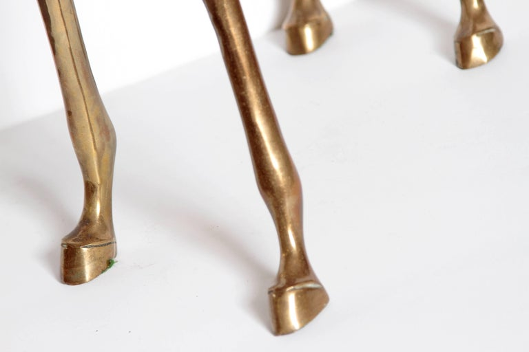 Life-Size Brass Deer Sculpture For Sale 3