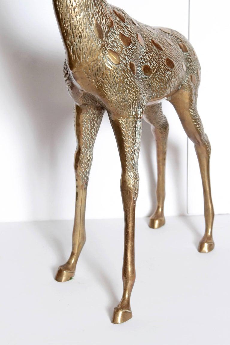 Life-Size Brass Deer Sculpture For Sale 4