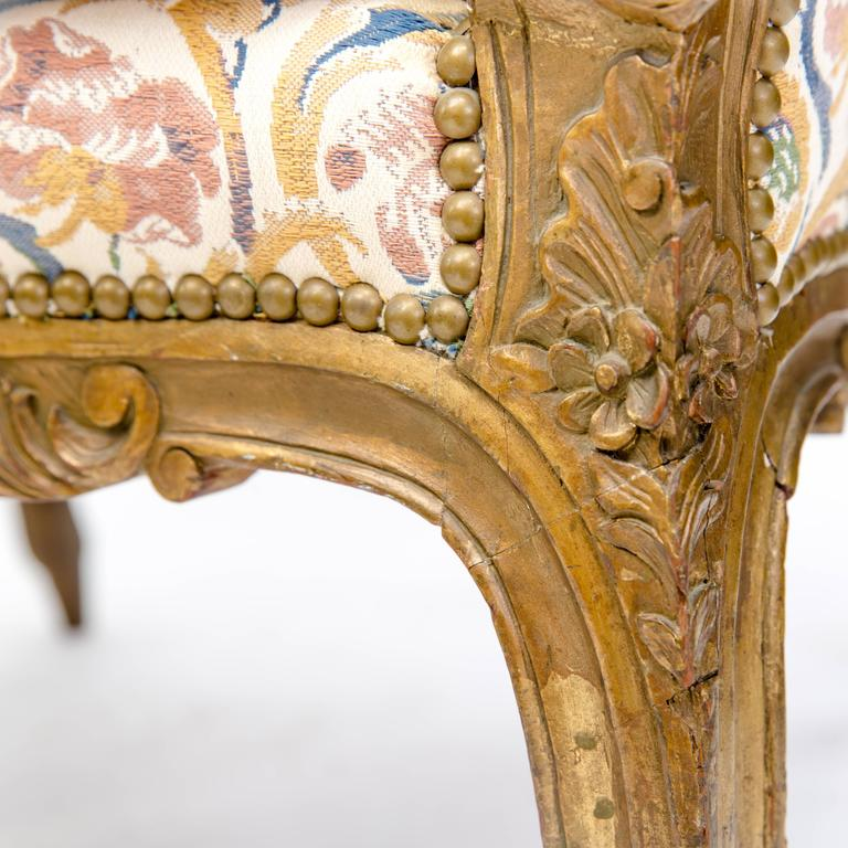 19th Century French Walnut Carved Armchair In Excellent Condition For Sale In Dallas, TX