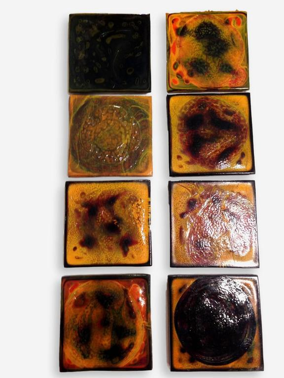 Set of 32 Early 20th Century Tiffany Tiles In Excellent Condition For Sale In Dallas, TX