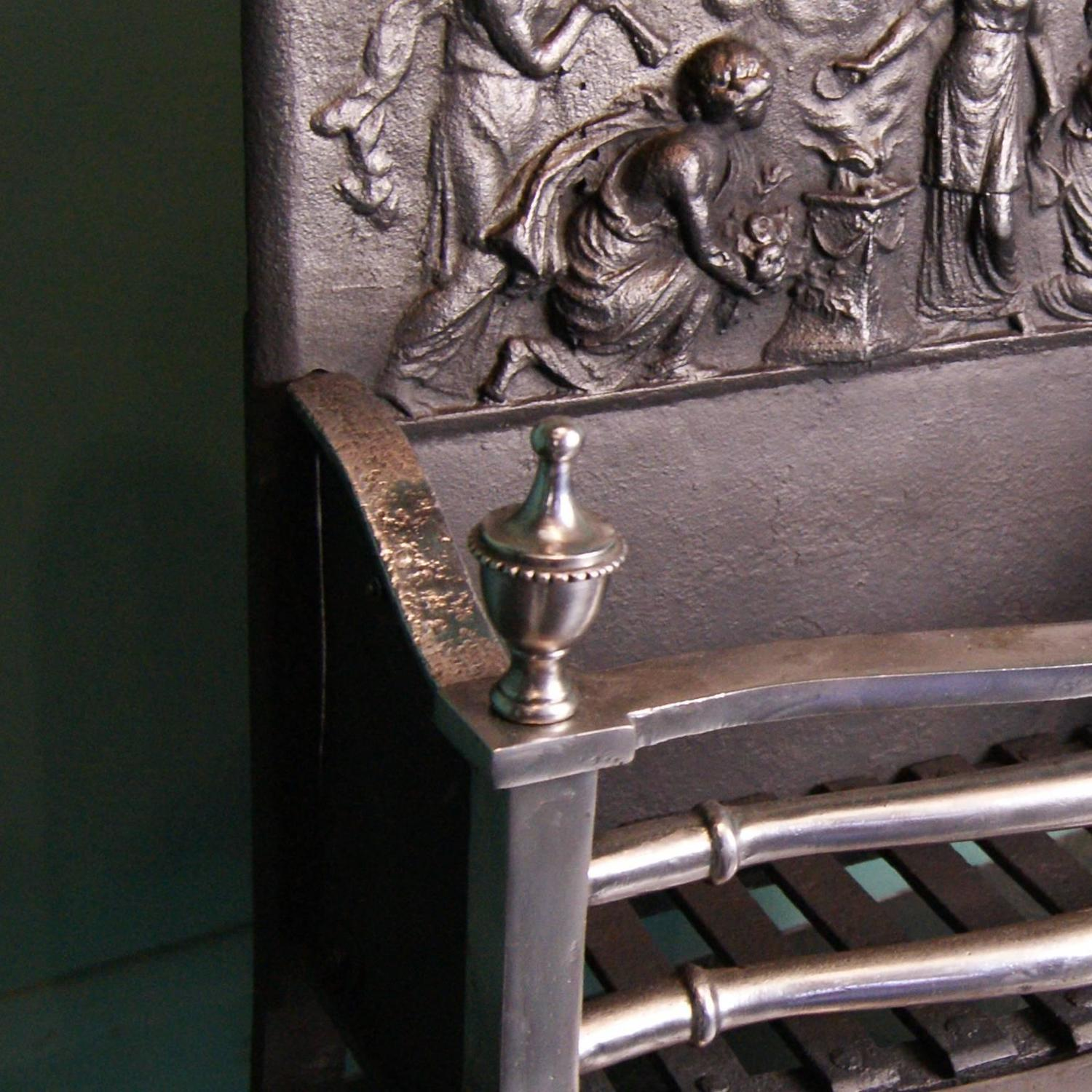 Polished Steel Fireplace Fire Grate For Sale At 1stdibs