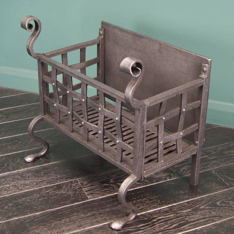 Wrought Iron Fireplace Fire Basket For Sale At 1stdibs