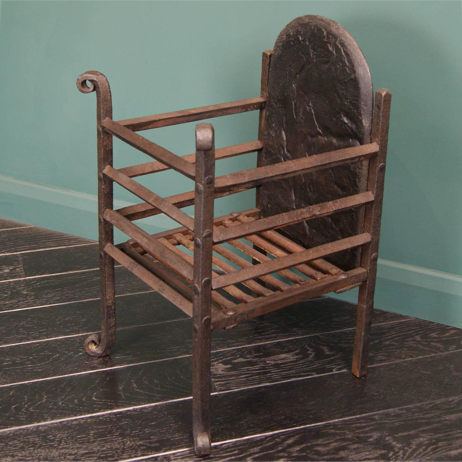 Small Wrought Fireplace Fire Basket For Sale At 1stdibs