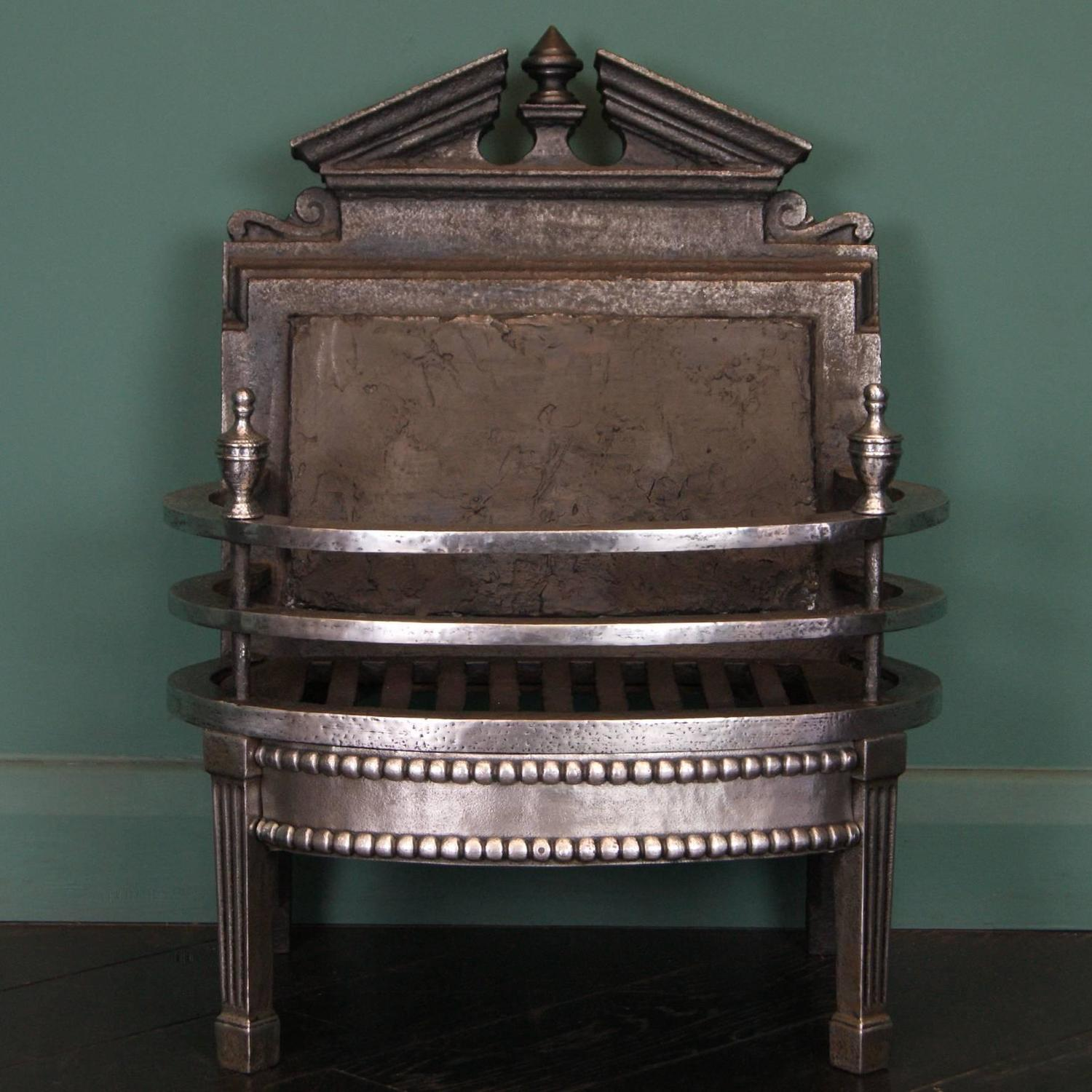 Small 19th Century Wrought And Cast Fireplace Fire Grate For Sale At 1stdibs