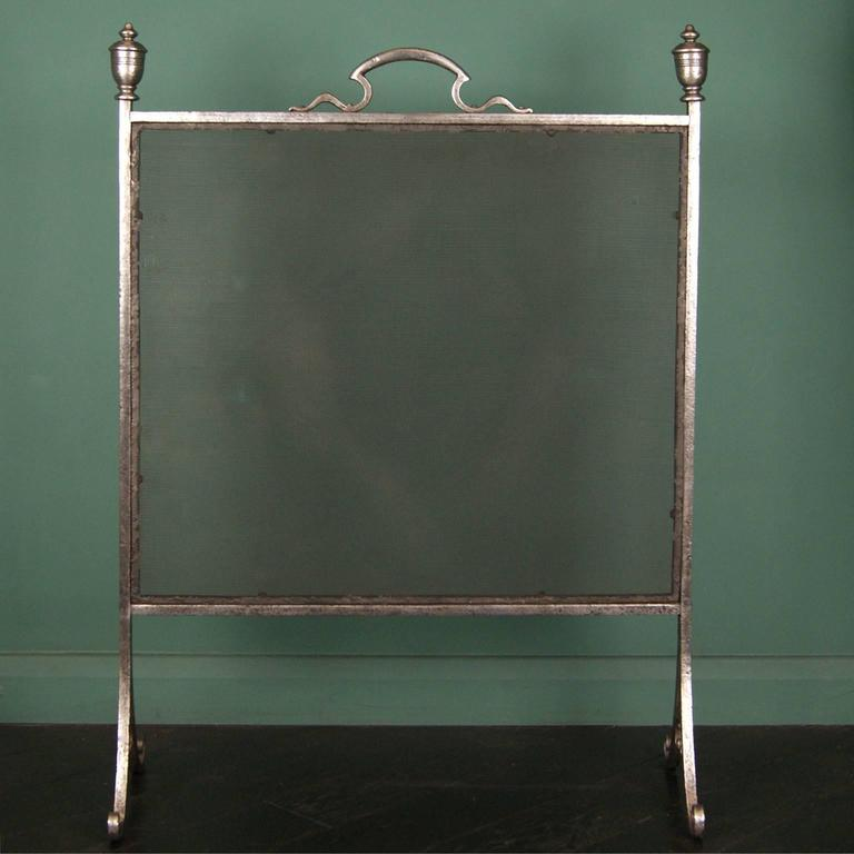 tall polished wrought fire screen for sale at 1stdibs