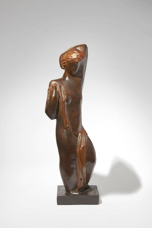"""Sculpture """"Lady with a Scarf"""" by Joseph Csaky 2"""