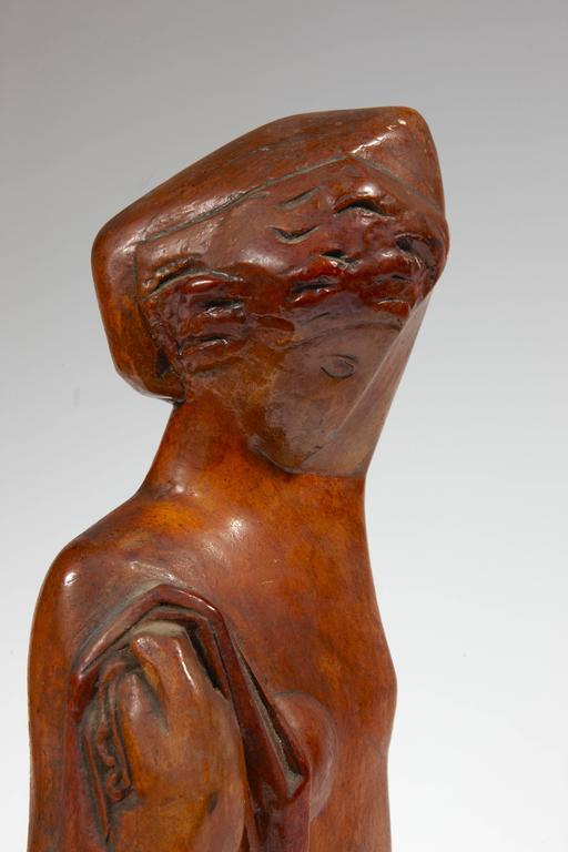 """Sculpture """"Lady with a Scarf"""" by Joseph Csaky 3"""